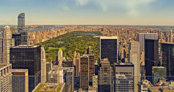 NYC view overlooking Central Park