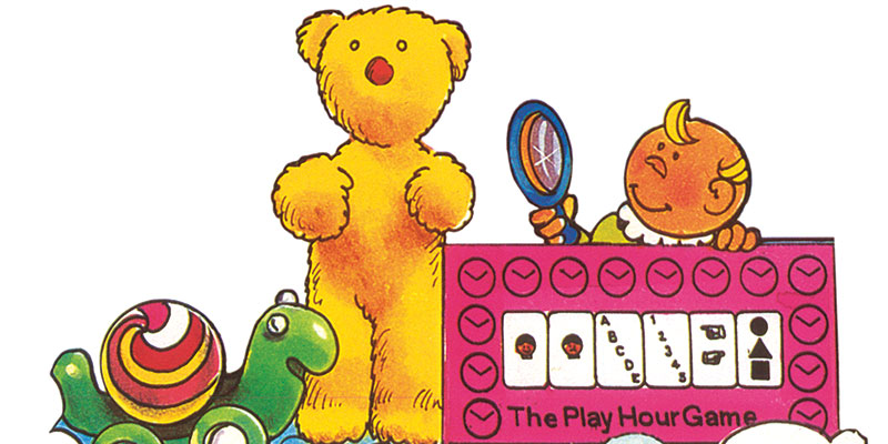 Terry Teddy (center) was one of a series of developmental toys for infants that Wexler created for Hasbro during the early 1970s. (Illustration by Adele Schnapp courtesy of Howard Wexler)