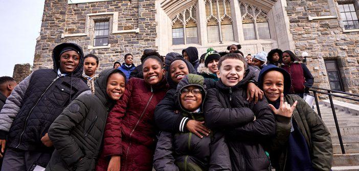 Local Catholic School Students Explore College Life at Fordham