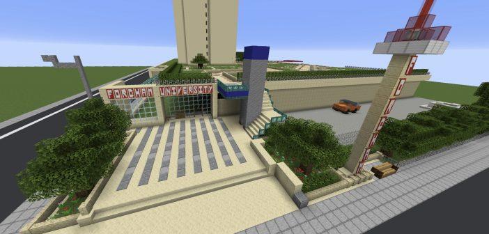 Students Begin Building a 'Virtual Fordham' on Minecraft